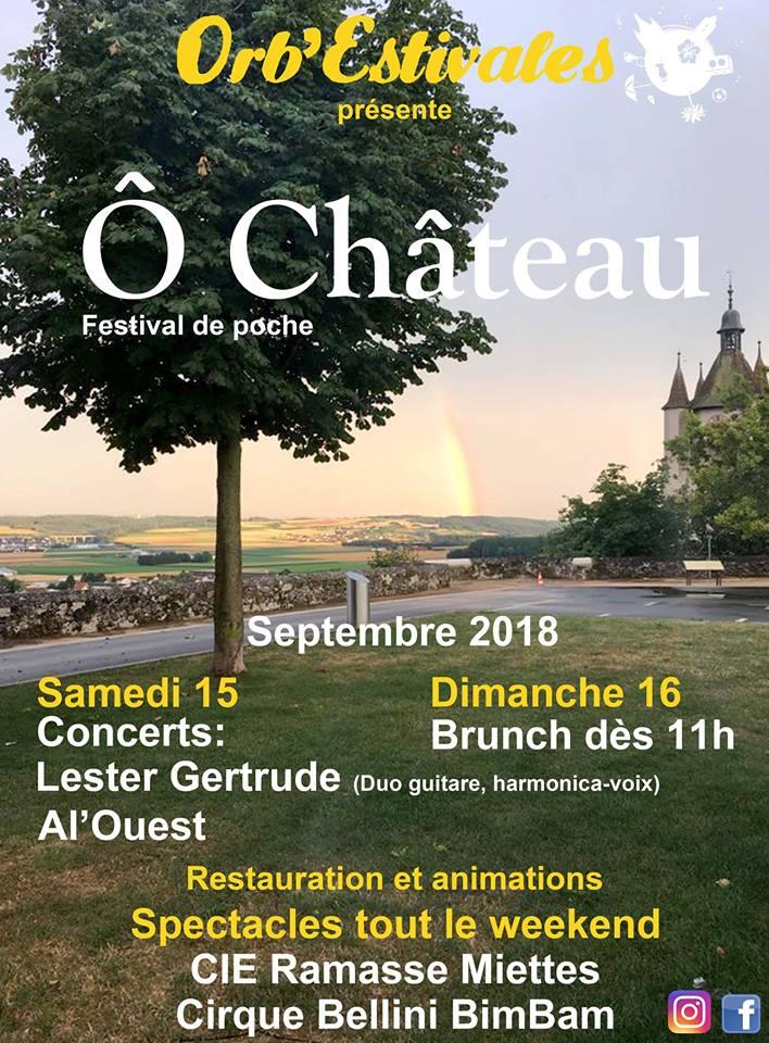Festival de poche Ô château samedi 15 et dimanche 16 septembre